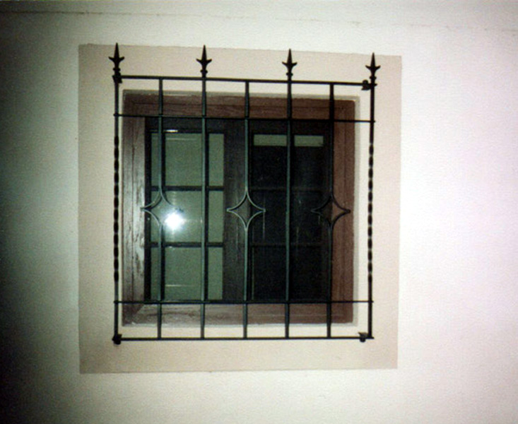 Burglar window door bars keeps intruders out prevents for Window bars design
